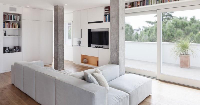 Dise o de interiores arquitectura casa decorada con - Casas decoradas en blanco ...