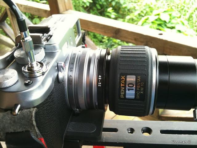 當使用XW10的目鏡時,35等效焦距FL約等於 500(望遠鏡焦距)*35(鏡頭等效焦距)/10(目鏡焦距) =1750mm
