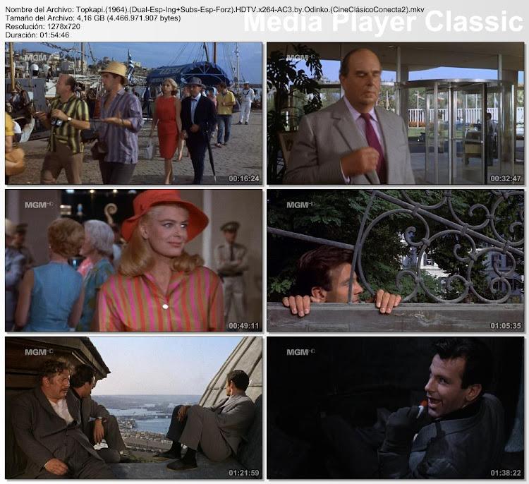 Imagenes / secuencias de la pelicula: Topkapi ( 1964 )