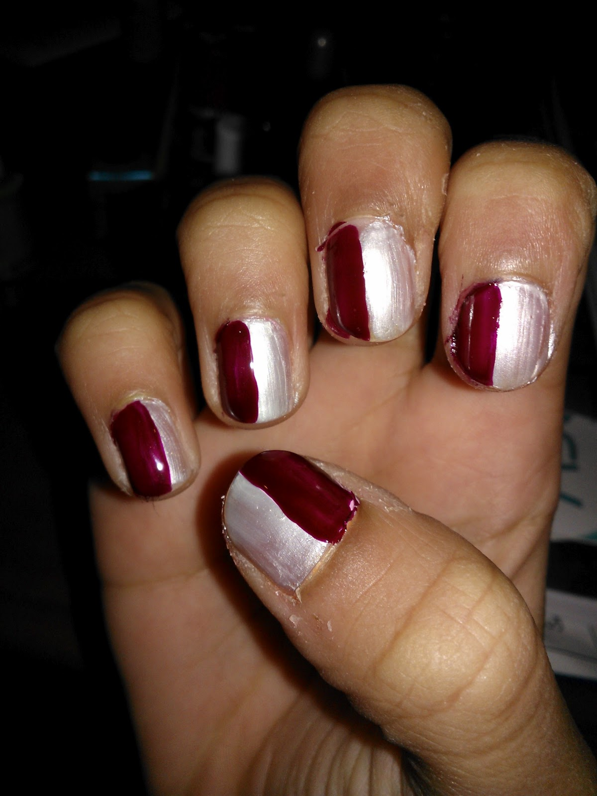 Maroon And White Nails | Best Nail Designs 2018