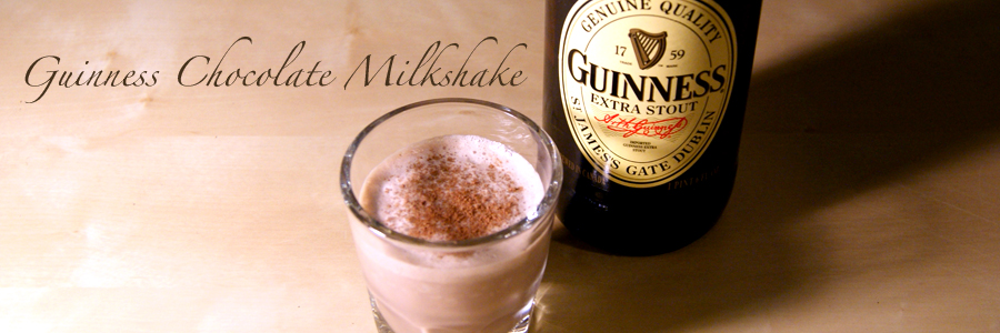 Oh, the tiger will love you: Guinness Chocolate Milk Shake