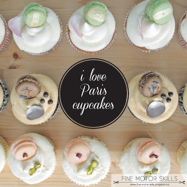 Macaron cupcakes via Fine Motor Skills