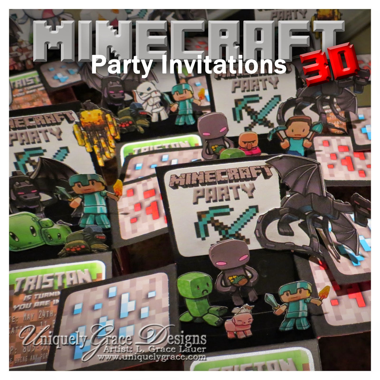 Minecraft Birthday Invitation – gangcraft