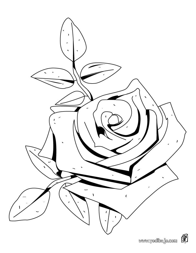 Asombroso Páginas Para Colorear En Blanco Y Negro De Rosas Adorno ...