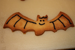 halloween baking bat biscuits