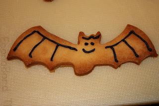 halloween baking bat biscuits