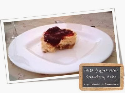 Tarta de queso estilo Strawberry Cake