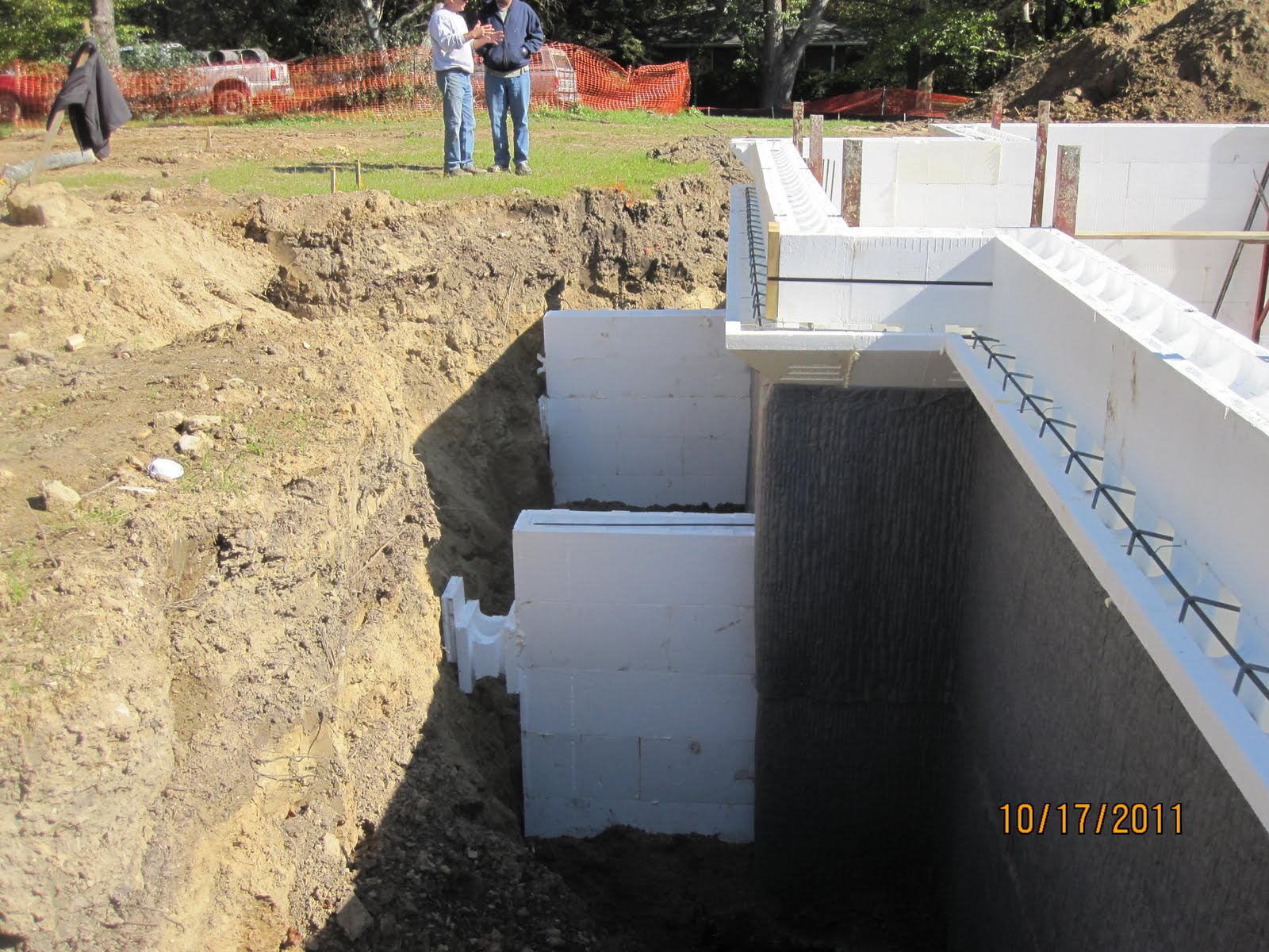 Energy efficient building network placing concrete in icf for Icf concrete