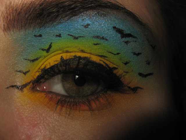 Sky Bird Flying Eye Makeup