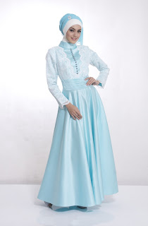 model baju pesta ala muslimah