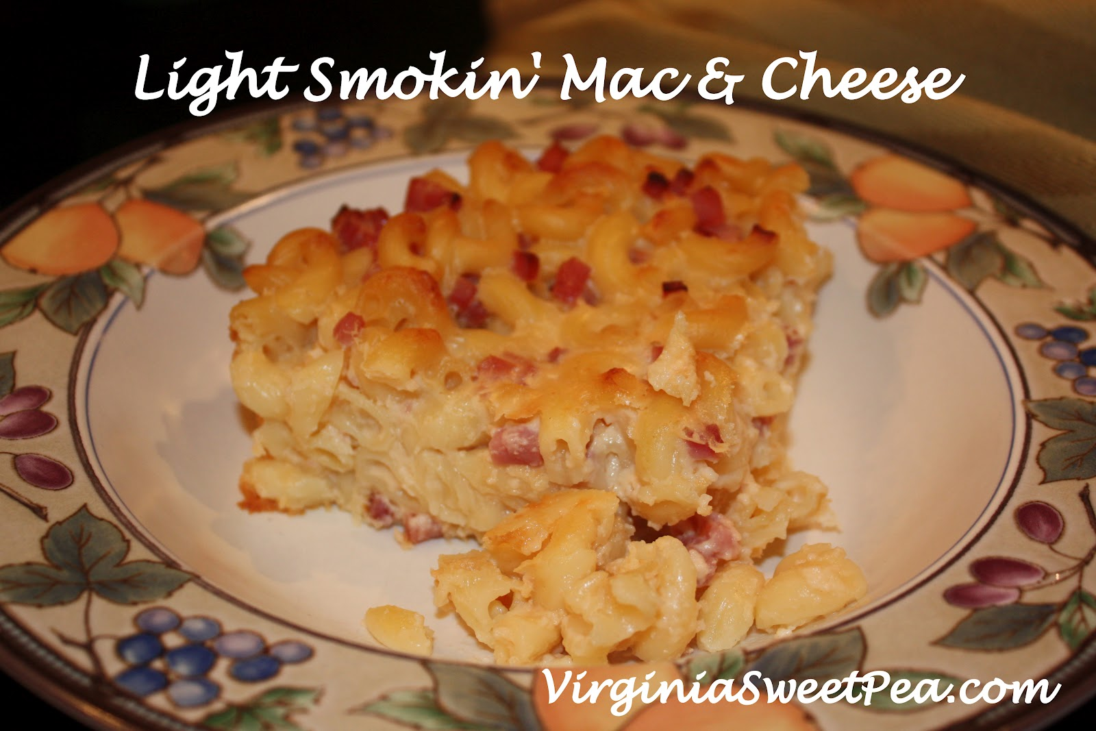 Light Smokin' Mac and Cheese - Sweet Pea