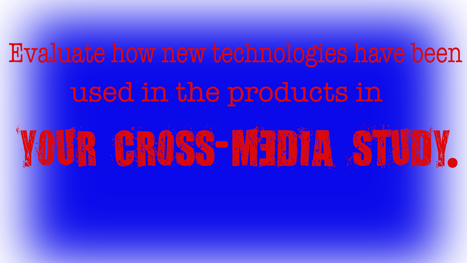 fishymedia resources for a as media studies  the aim of today s lesson was to discuss possible content for the second cross media study essay the question that will dictate the content of the second