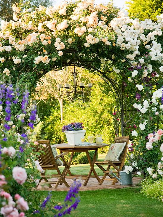 Decoração Jardim das Rosasum jardim encantadoromântico