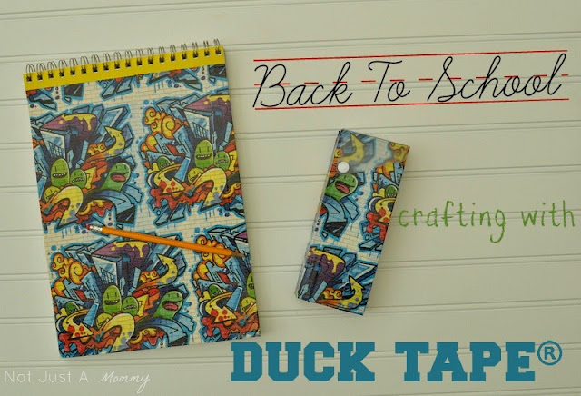 Back To School Crafting with Duck Tape sketchbook and pencil case