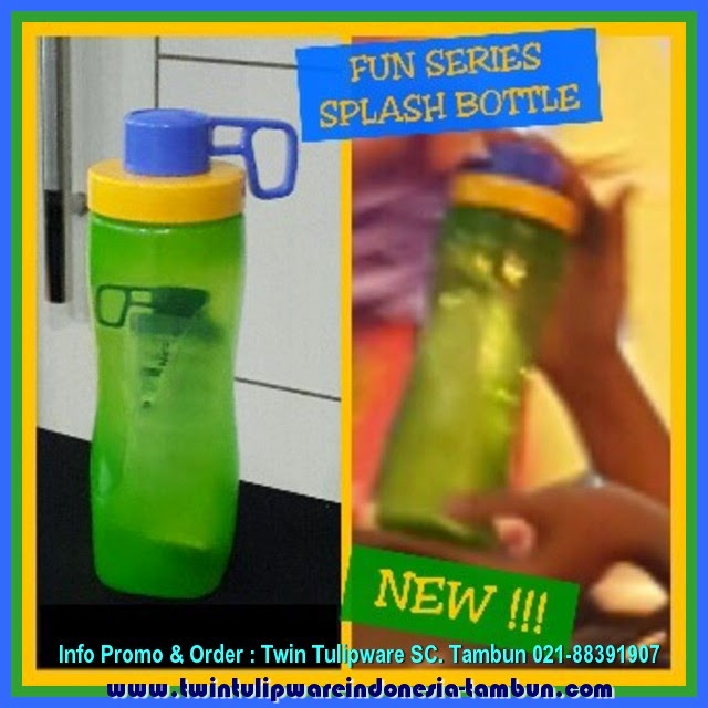 SPLASH BOTTLE Tulipware Fun Series - Produk Baru 2015 - Blue Green Yellow