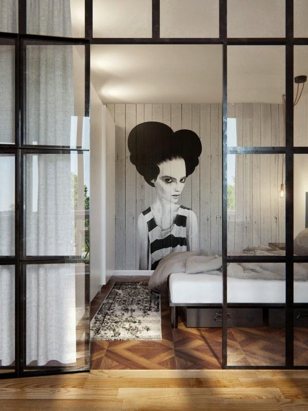 Apartamento de 69 metros de estilo ecléctico.