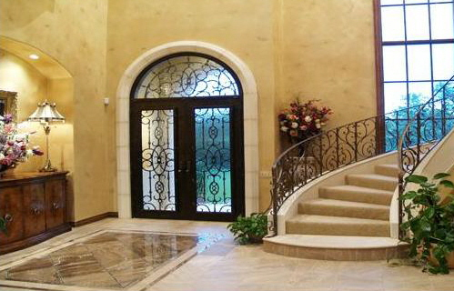 Stock photostaircase entry beautiful home interior make for Pictures of beautiful houses interior