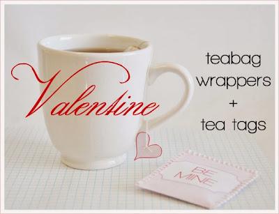 imprimible bolsas de te San Valentin, Free Printable Valentine Teabag Wrappers