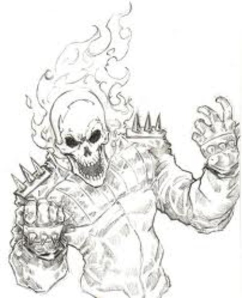Free Ghost Rider Coloring Pages For Kids  Disney Coloring Pages