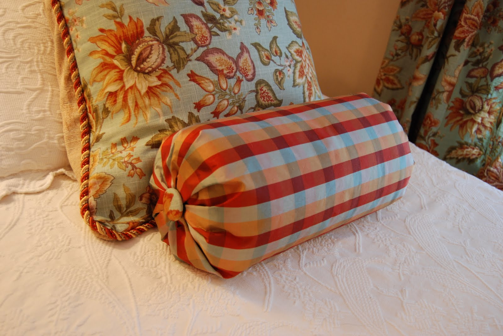 Imparting grace no sew bolster pillow tutorial Sew bolster pillow cover