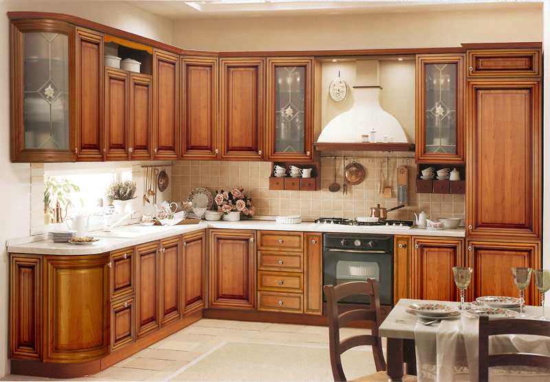 Freestanding kitchen pantry brown cabinet