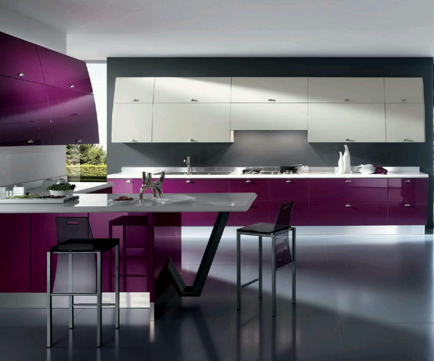 Modern luxury kitchen cabinets designs hot girls wallpaper for Luxury modern kitchen