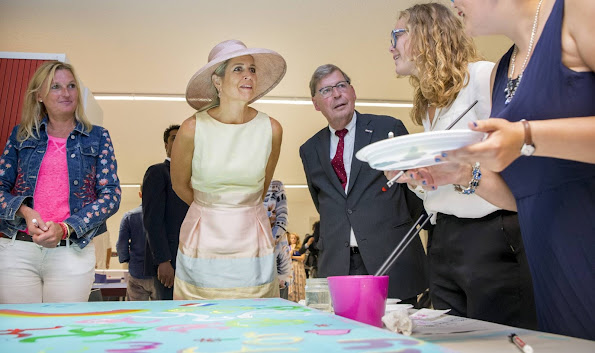 Netherland's Queen Maxima is pictured during the opening of the Papageno House in Laren