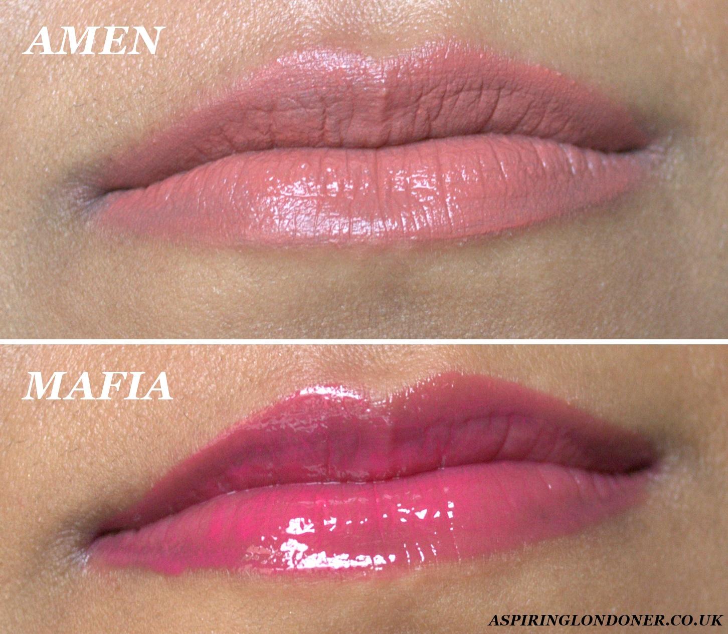 L'Oreal Paris Infallible Mega Gloss Lip Swatches Amen Mafia - Aspiring Londoner