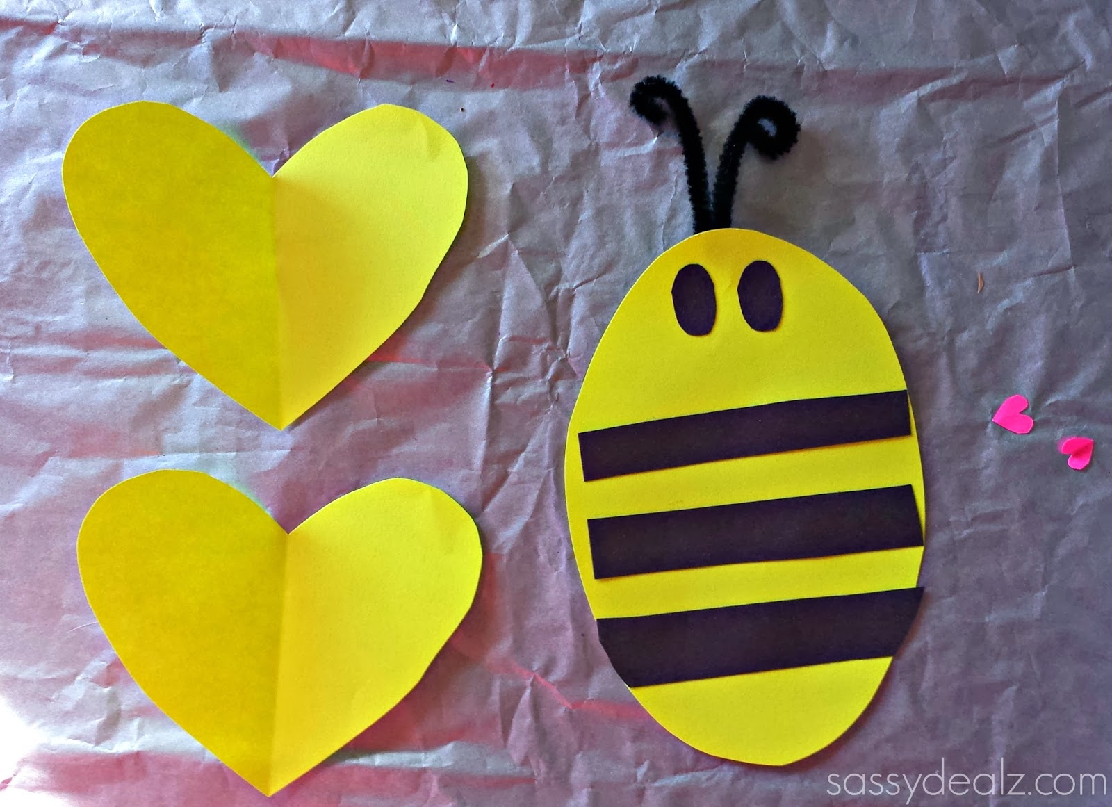 bee mine valentine craft card