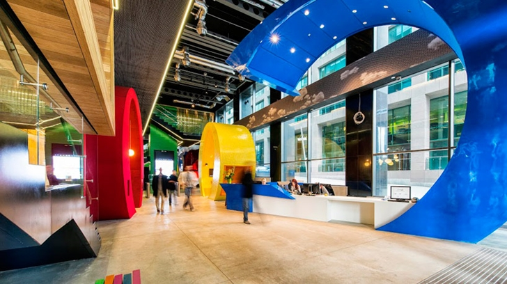 Lobby of Google office in Dublin