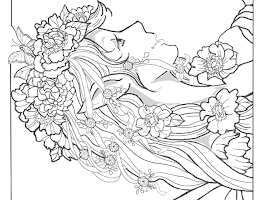 Complex Fairy Coloring Pages