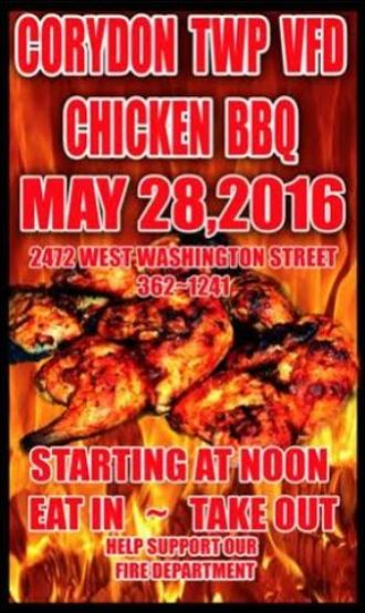 5-28 Chicken BBQ, Corydon Twp. VFD