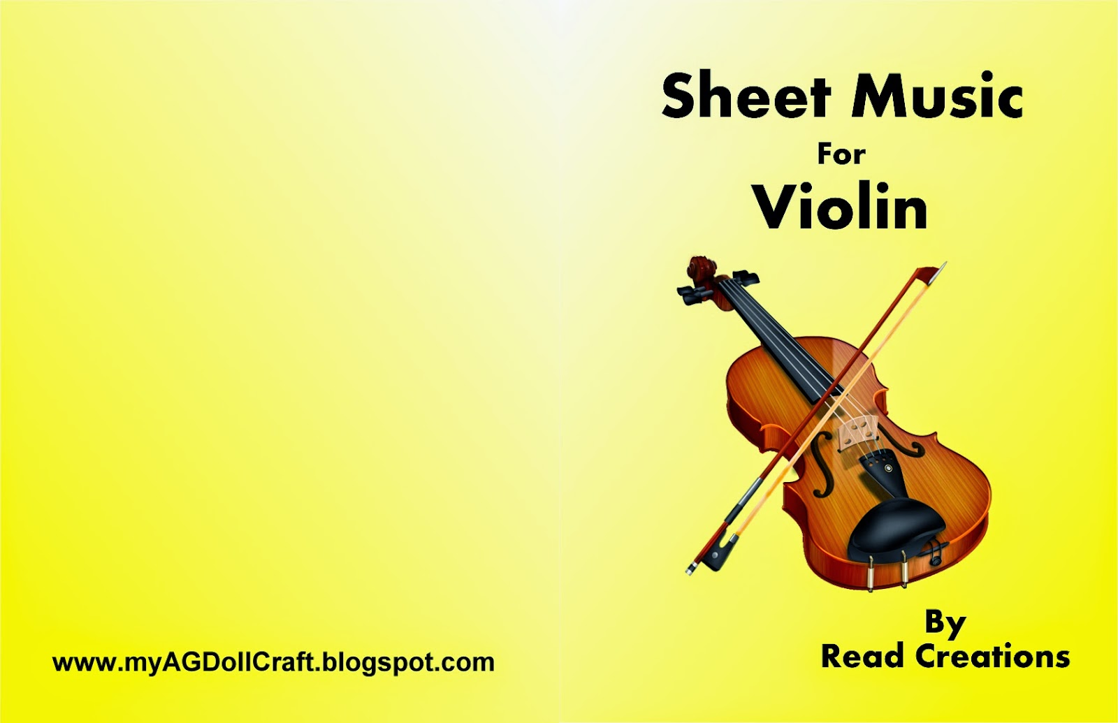 Violin book cover
