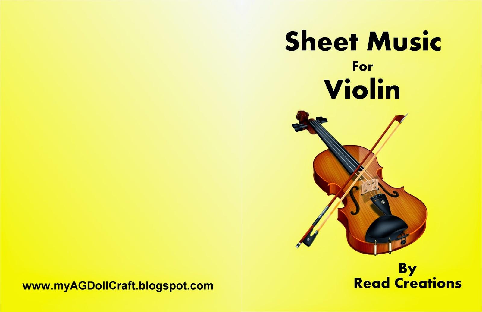 Violin book cover