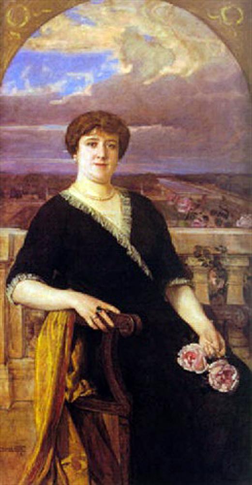 Retrato de una dama, Anselmo Miguel Nieto, Pintura Española, Pintores Españoles, Pintor Español