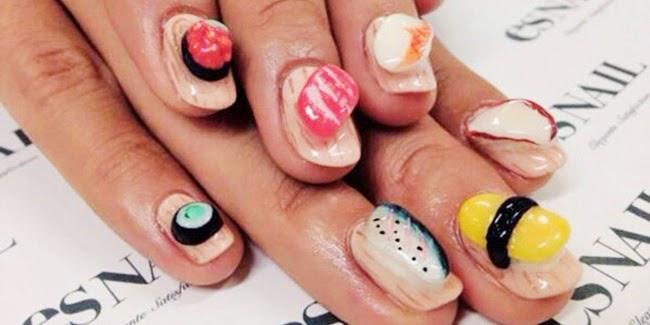 Cantik : Tren Nail Art Sushi
