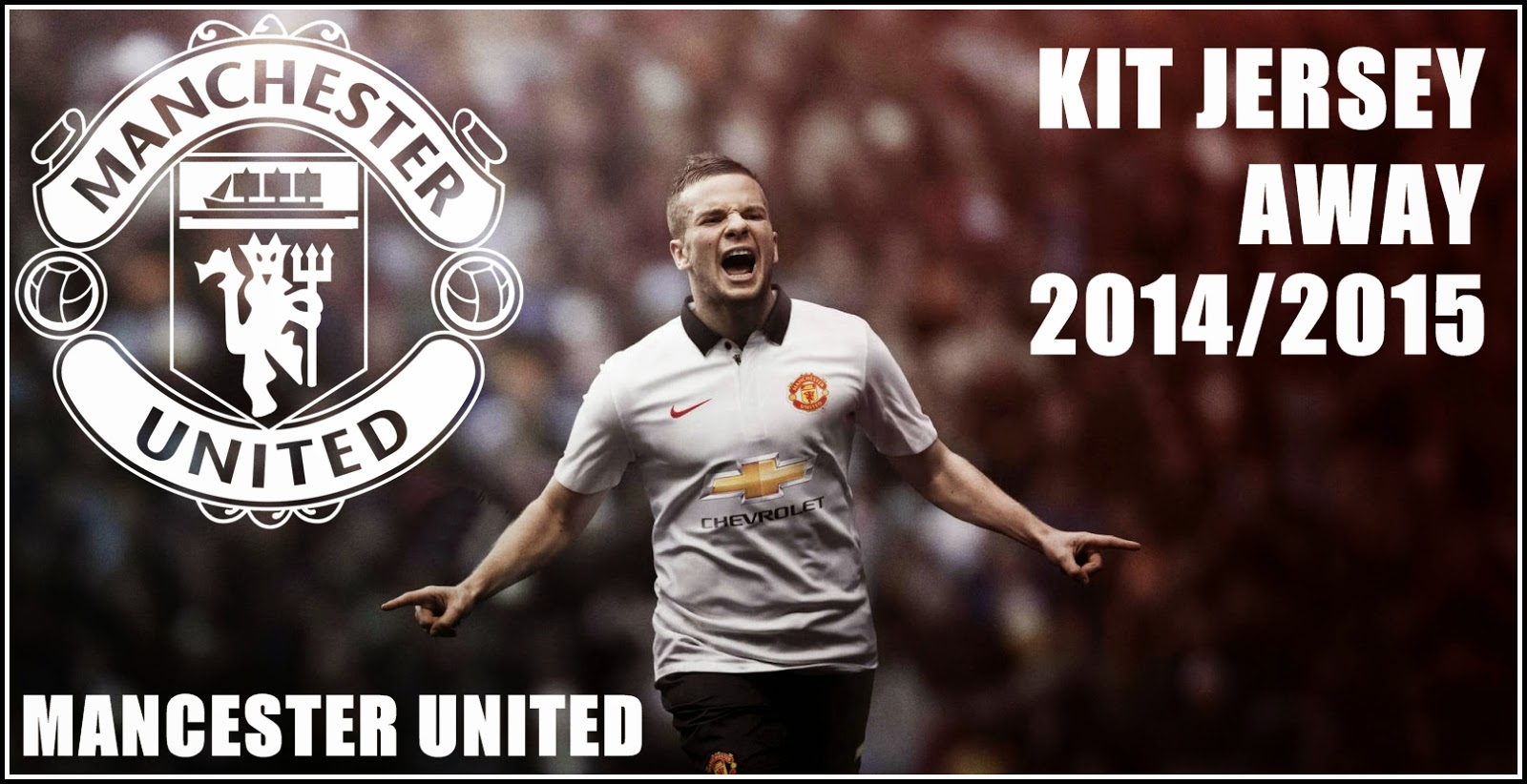 Thailand Quality Manchester united 2014-2015 Away White Soccer Jersey Nike PI