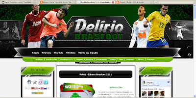 Template Delirio Brasfoot Blogger