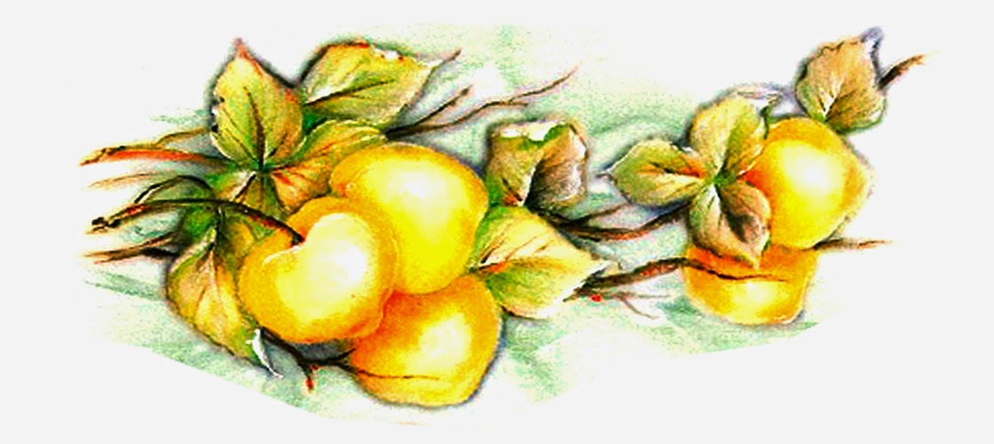 pintura de pêssegos só artesanato