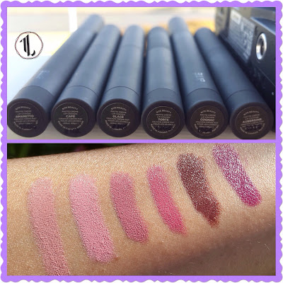 Bite Beauty Matte Creme Lip Crayons swatched www.modenmakeup.com