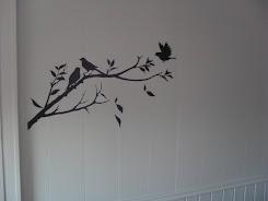 Tips: Pynt opp vegger med Veggstickers:) Denne er fra Søstrene Grene