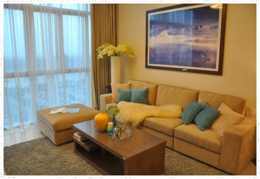 Living room in The Vista condo