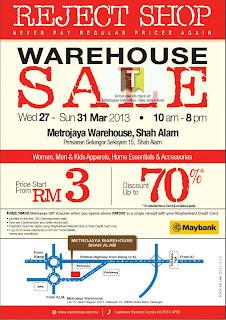 Reject Shop Warehouse Sale 2013