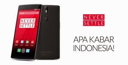 OnePlus One mulai tersedia di pasar Indonesia tanggal 27 Januari dengan harga 4,5 jutaan