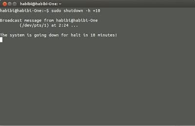 Cara Mematikan dan Merestart Ubuntu Otomatis