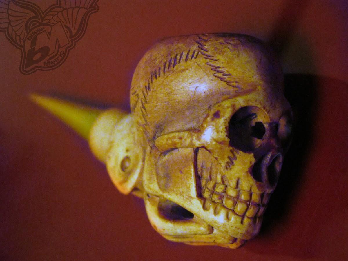 vintage meerschaum skull pipe
