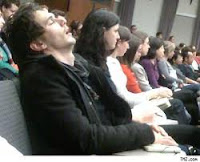 student sleeping in lecture