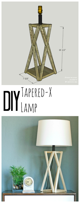 DIY X trestle table lamp