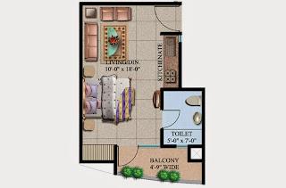 Ecociti :: Floor Plans,Super Area: 425 Sq. Ft.