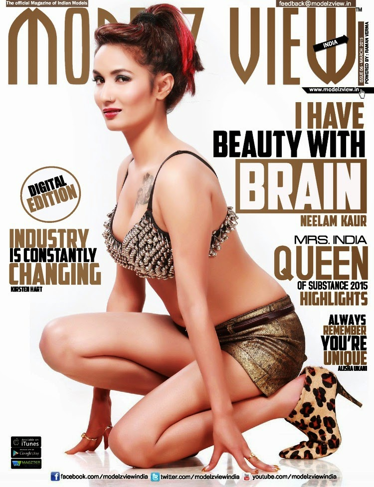 Model @ Neelam Kaur - Modelz View India, March 2015